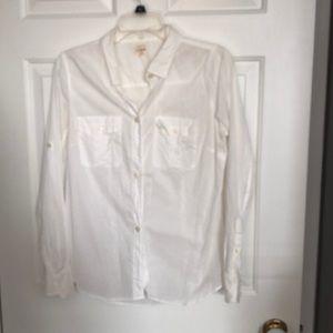 White linen button down.